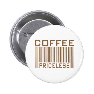 Le code barres inestimable de café pique des cadea badge rond 5 cm