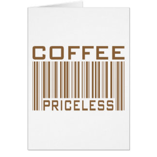Le code barres inestimable de café pique des cadea carte de vœux