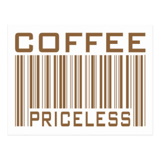 Le code barres inestimable de café pique des cadea carte postale