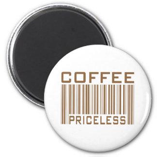 Le code barres inestimable de café pique des cadea aimant