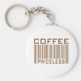 Le code barres inestimable de café pique des cadea porte-clés