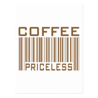 Le code barres inestimable de café pique des cartes postales
