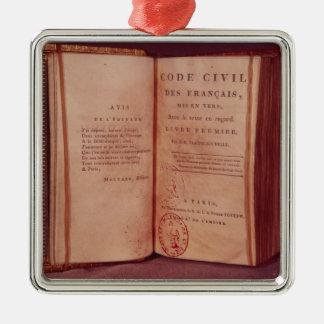 Le code napoléonien ornement carré argenté