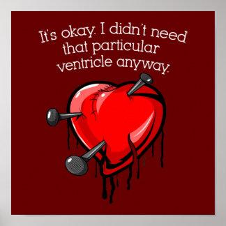Le coeur brisé d'Anti-Valentine Affiches