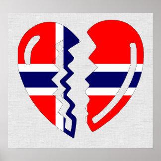 Le coeur brisé de la Norvège Affiches