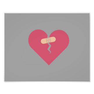 le coeur brisé guéri par la correction impression photo
