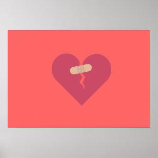 le coeur brisé guéri par la correction posters