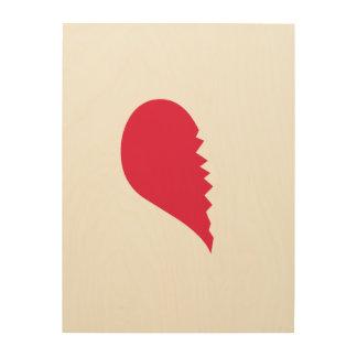 Le coeur brisé canevas en bois