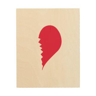 Le coeur brisé impressions sur bois