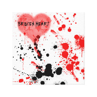 Le coeur brisé impressions sur toile