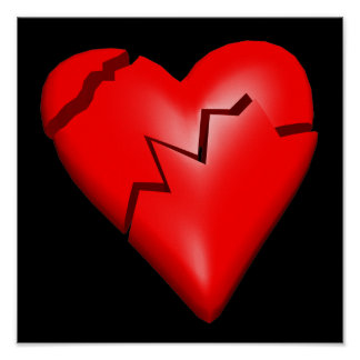 Le coeur brisé affiche