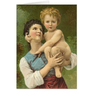Le coeur d'une mère carte de vœux
