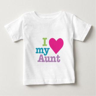 Le coeur I ma tante badine le T-shirt