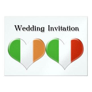 Le coeur irlandais et italien marque le faire-part