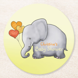 Le coeur mignon monte en ballon le baby shower de dessous-de-verre rond en papier