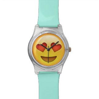 Le coeur observe la montre d'Emoji Montres Bracelet