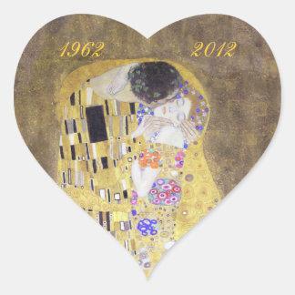 Le coeur S d'anniversaire de mariage d'or de Klimt Autocollants En Cœur