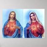 Le coeur sacré et l'affiche impeccable de coeur
