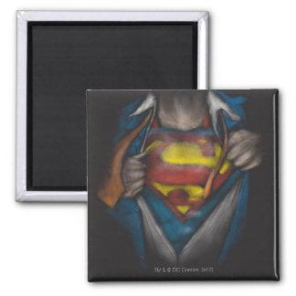 Le coffre de Superman | indiquent le croquis Magnet Carré