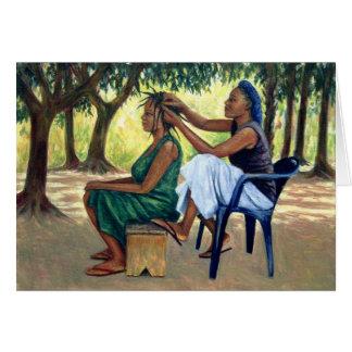 Le coiffeur 2001 carte de vœux