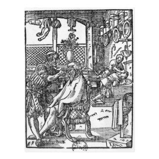 Le coiffeur carte postale