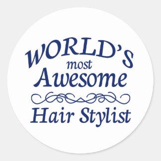 Le coiffeur le plus impressionnant du monde sticker rond
