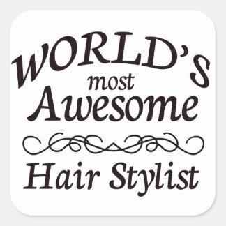 Le coiffeur le plus impressionnant du monde sticker carré