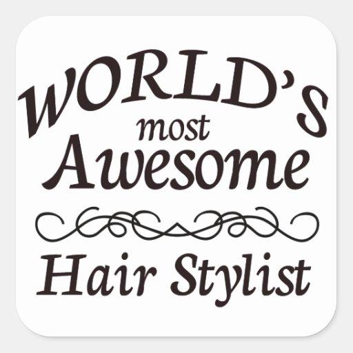 Le coiffeur le plus impressionnant du monde stickers carrés