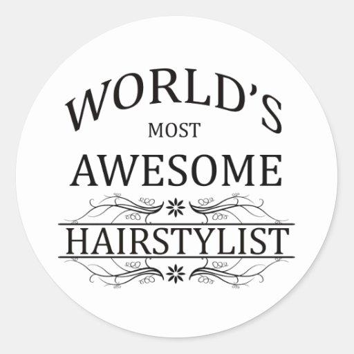 Le coiffeur le plus impressionnant du monde adhésif rond
