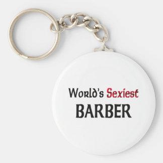 Le coiffeur le plus sexy du monde porte-clé rond
