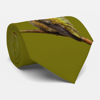 Le colibri d'Anna sur l'écarlate Trumpetvine Cravates