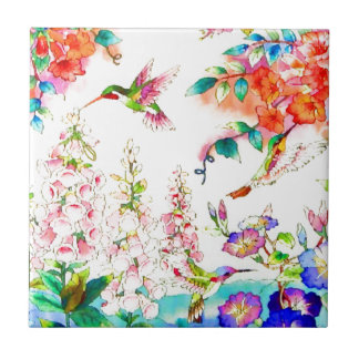 Le colibri fleurit le paysage carreau