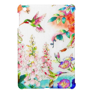 Le colibri fleurit le paysage étuis iPad mini