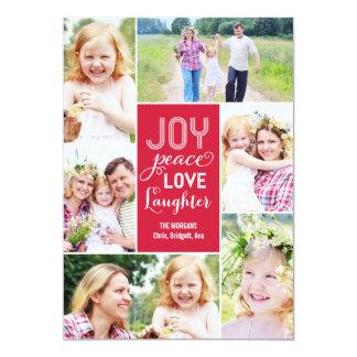 Le collage souhaite le carte photo de vacances - carton d'invitation  12,7 cm x 17,78 cm