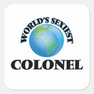 Le colonel le plus sexy du monde sticker carré