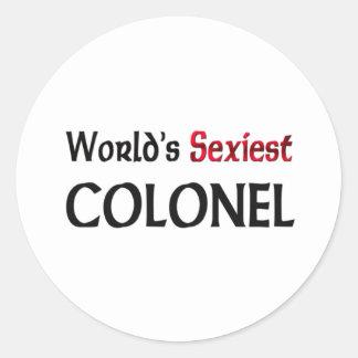 Le colonel le plus sexy du monde adhésif rond
