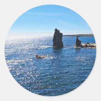 Le Colonne - île de San Pietro Sticker Rond