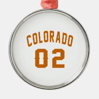 Le Colorado 02 conceptions d'anniversaire Ornement Rond Argenté