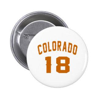 Le Colorado 18 conceptions d'anniversaire Badge