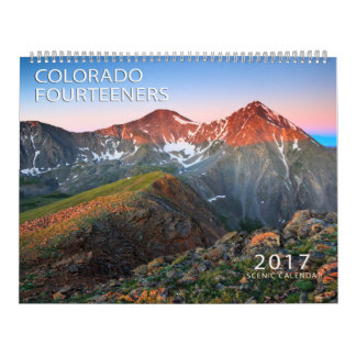 Le Colorado 2017 Fourteerners Calendrier Mural