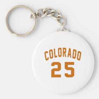 Le Colorado 25 conceptions d'anniversaire Porte-clé Rond