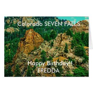 Le Colorado carte d'anniversaire de sept automnes
