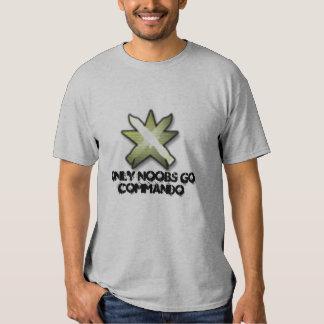le commando, seulement Noobs vont commando T-shirts
