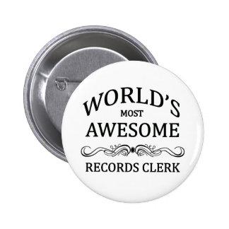 Le commis des disques le plus impressionnant du mo badges avec agrafe