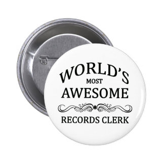 Le commis des disques le plus impressionnant du mo badge rond 5 cm