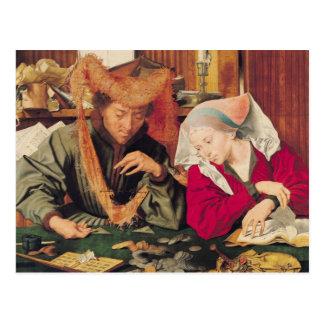 Le commutateur d'argent et son épouse, 1539 carte postale