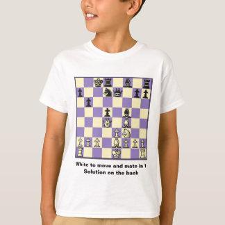 Le compagnon d'échecs dans 1 puzzle #2 badine le t-shirt