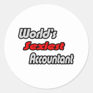Le comptable le plus sexy du monde sticker rond