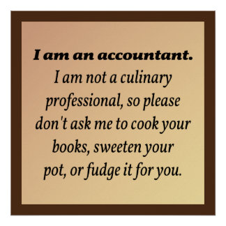 Le comptable ne fera pas cuire les livres poster