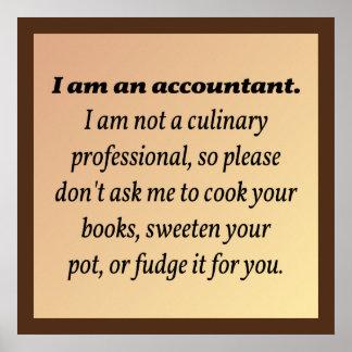 Le comptable ne fera pas cuire les livres posters